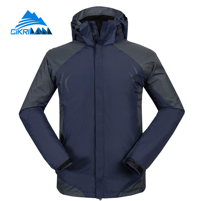 Hot Sale Windstopper 3 In 1 Winter Jacket Men Hiking Camping Veste Homme Outdoor Sport Chaqueta Hombre Fleece Liner Warm Coat yin qi shi man winter outdoor shoes hiking camping trip high top hiking boots cow leather durable female plush warm outdoor boot