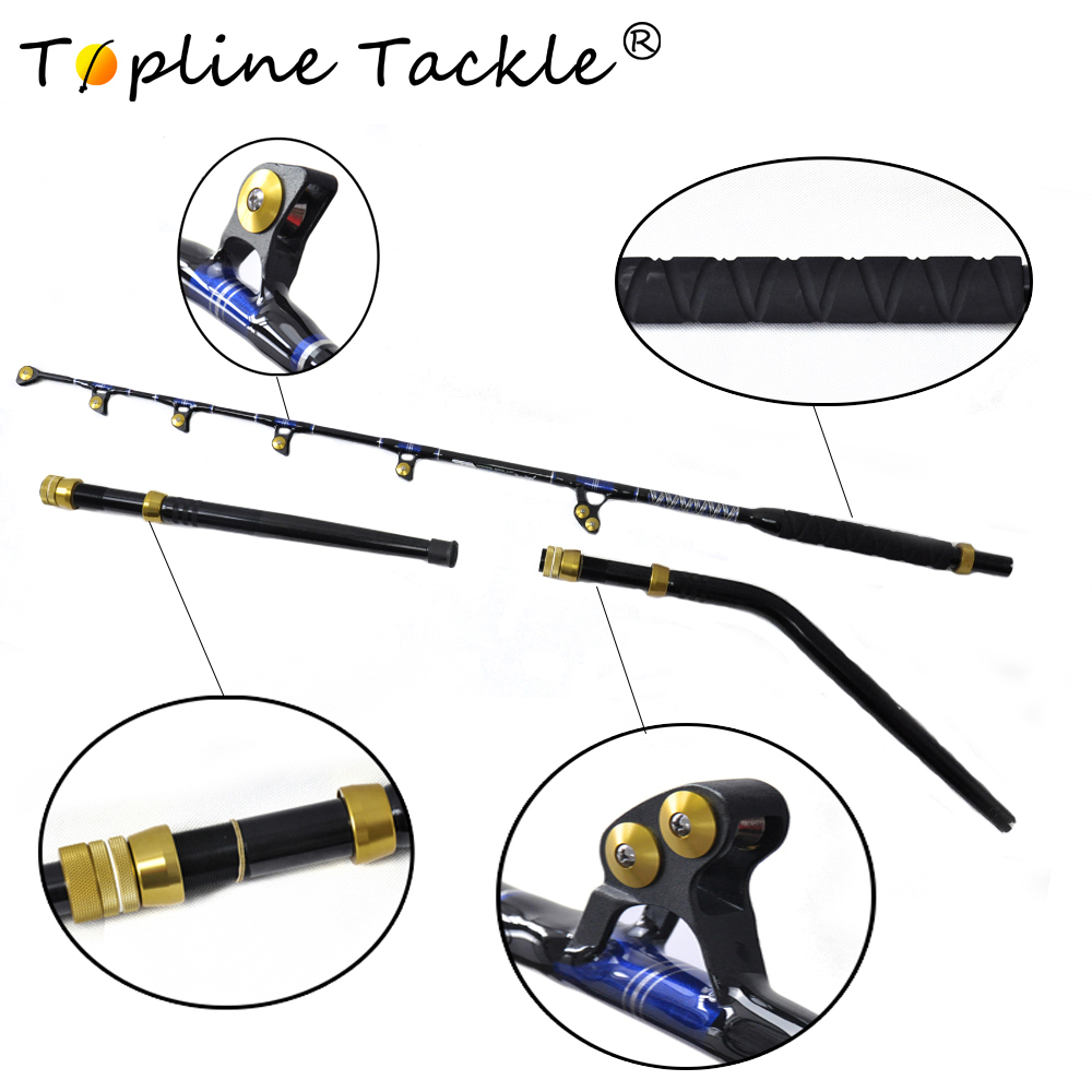 2018 TopLine Tackle BlueSpear 130lbs 6 6 FRP material fishing trolling rod good game fishing rod