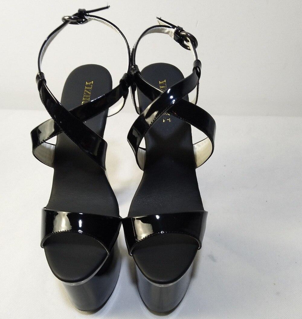 Sommer Cm Schuhe High Strap Heels silber Kreuzmuster Schwarzes Rom Frauen Partei Damen Neue Pumpen Sexy Ferse 17 Große Größe Sandale Dünne tdqx6taw