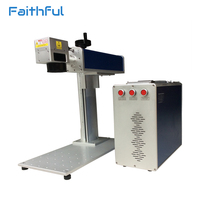 20w IPG Portable Optical Fiber Laser Marking Machine For Brass Copper