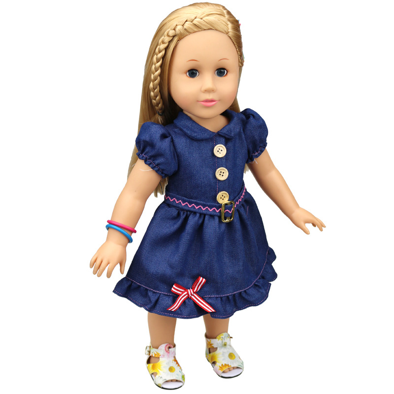 Denim Skirt for 18 inch American Dolls 18 quot American Doll Dress Only Clothes in Dolls Accessories from Toys amp Hobbies