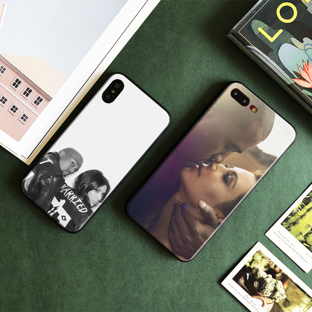 new products 43889 6c34c US $3.63 9% OFF|Kim Kardashian Kanye West Fashion Soft Silicone Tpu Phone  Case Cover shell For Apple iPhone 5 5s Se 6 6s 7 8 Plus X XR XS MAX-in ...