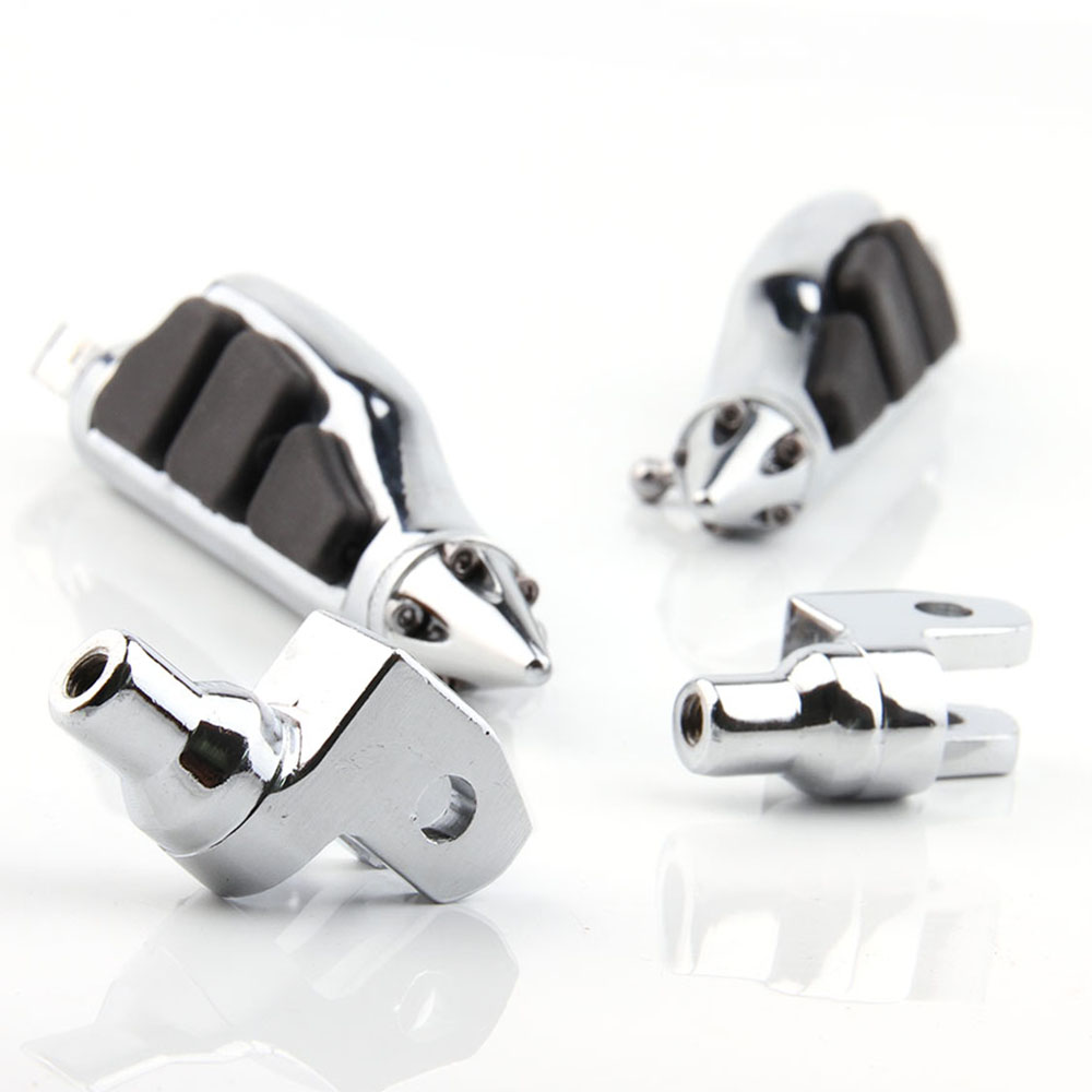 For Yamaha V-Star 650 1100 V-Max Virage 750 1100 Aluminum Front Footpegs Foot pegs Footrest Rests Pedals Motorcycle Parts CHROME aluminum cnc motorcycle foot rests footrest pegs pedals for kx125 kx250 1997 2001 kx500 1988 1990 free shipping