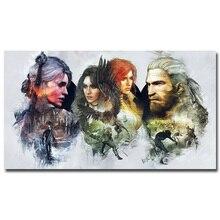 Geralt de The Witcher 3 Juego de Seda Del Arte de la Caza Salvaje Caliente tela de la Impresión Del Cartel 13×24 24×43 pulgadas Pared Cuadros Para la Sala Decoración TW024