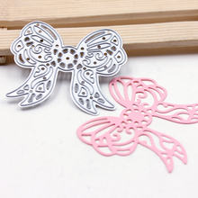 1Pcs New Design Bow tie Stencil Metal Cutting Dies Cut Practice Hands-on DIY Scrapbooking Album Craft dies Tool DC-513(China)