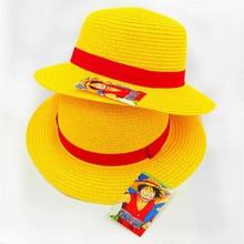 BOOCRE Anime una pieza mono D Luffy sombrero de paja accesorios apoyos Cosplay  sombrero(China 56f43d9e003