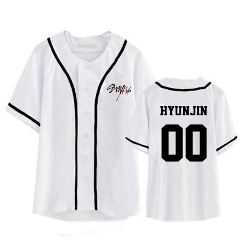 f62f2fd0e ... ONGSEONG Kpop StrayKids Stray Kids Album Cardigan Shirts Clothes Loose Tshirt  T Shirt Short Sleeve Tops ...