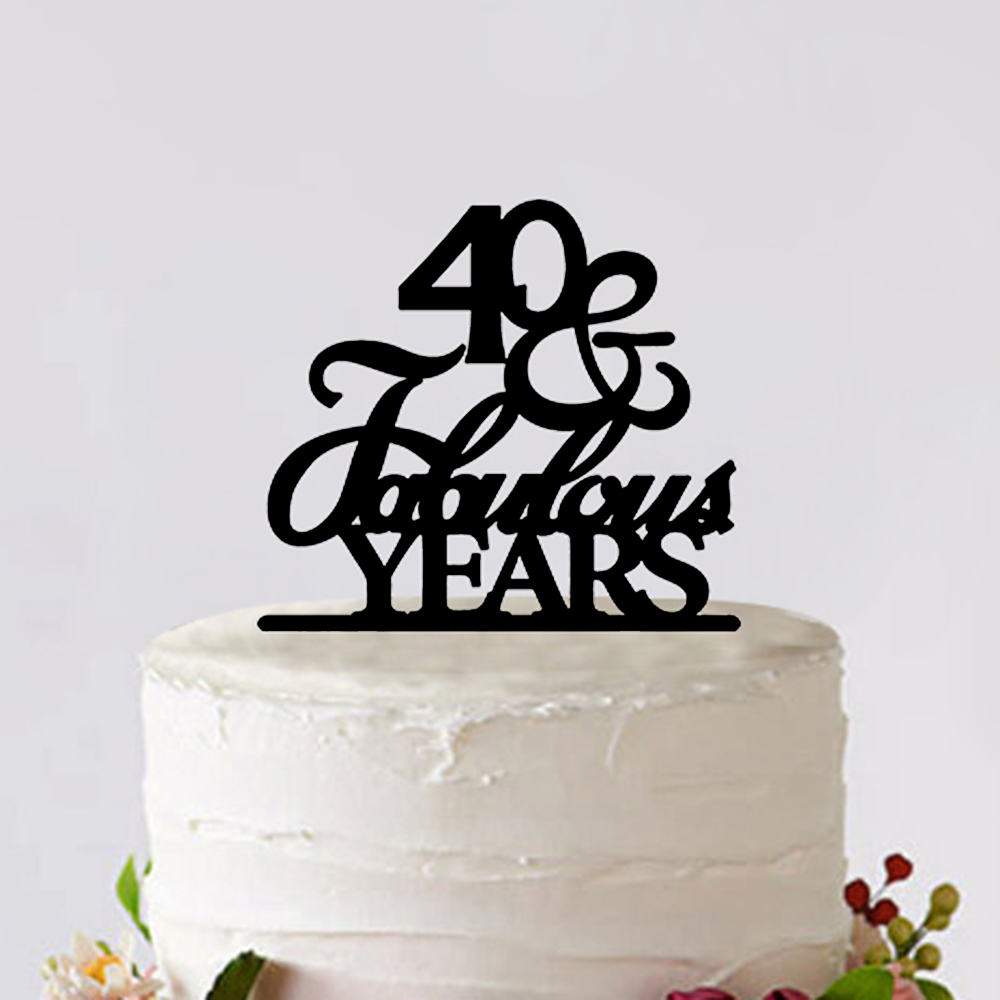 40 Fabulous Cake Topper Bride and Groom 40th Wedding Anniversary ...