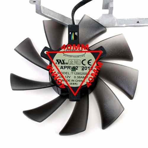 1 pcs EVERFLOW Fan T129025SU   For ASUS DC 12V 0.38A 4 Pin