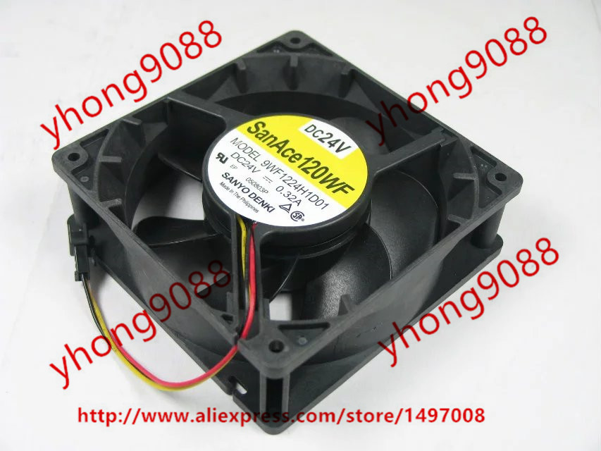 SANYO 9WF1224H1D01 DC 24V 0.32A 120x120x38mm Server Square Fan