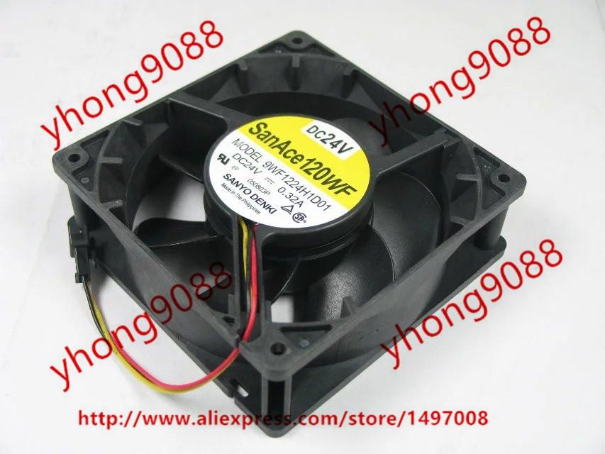 SANYO 9WF1224H1D01 DC 24V 0.32A 120x120x38mm Server Square Fan