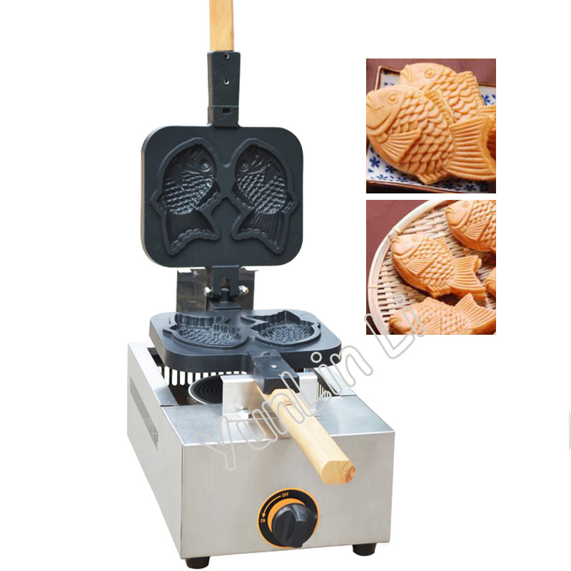 Gas Fish-shape Cake Grill Japanese Fish Waffle Maker Taiyaki Snack Baker Mini Household Waffle Making Machine FY-1105.R digital taiwan taiyaki machine taiyaki waffle making machine
