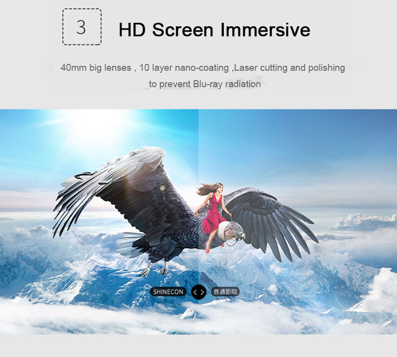 Original VR Shinecon 6.0 Virtual Reality 3D Glasses Cardboard VRBOX Helmet For 4.0-6.0 inch Smartphone With Wireless Controller 9