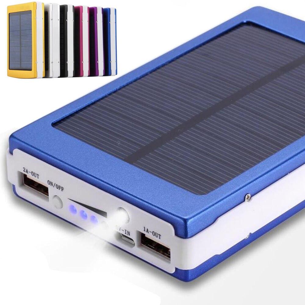 imágenes para 10000 mAh Protable Solar Power Bank Cargador de Batería Externo para el Teléfono Luz del Campo