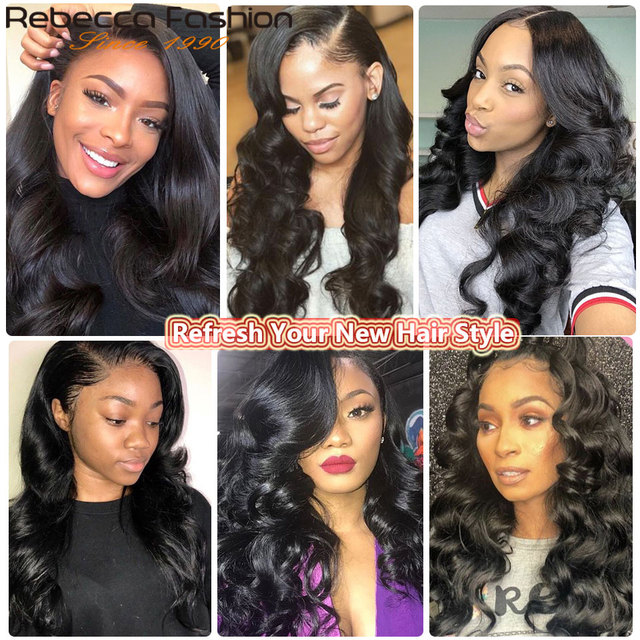 Rebecca перуанские человеческие волосы свободная волна 1 комплект предложения 10-28 30 дюймов натуральные черные не Реми человеческие волосы для наращивания Бесплатная доставка