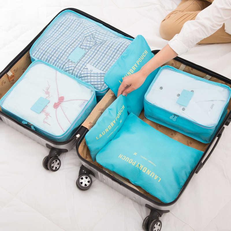 Su geçirmez giysiler ayakkabı makyaj çanta seti dolap dolap organizatör kozmetik iç çamaşırı düzenli bavul bagaj aksesuarları malzemeleri