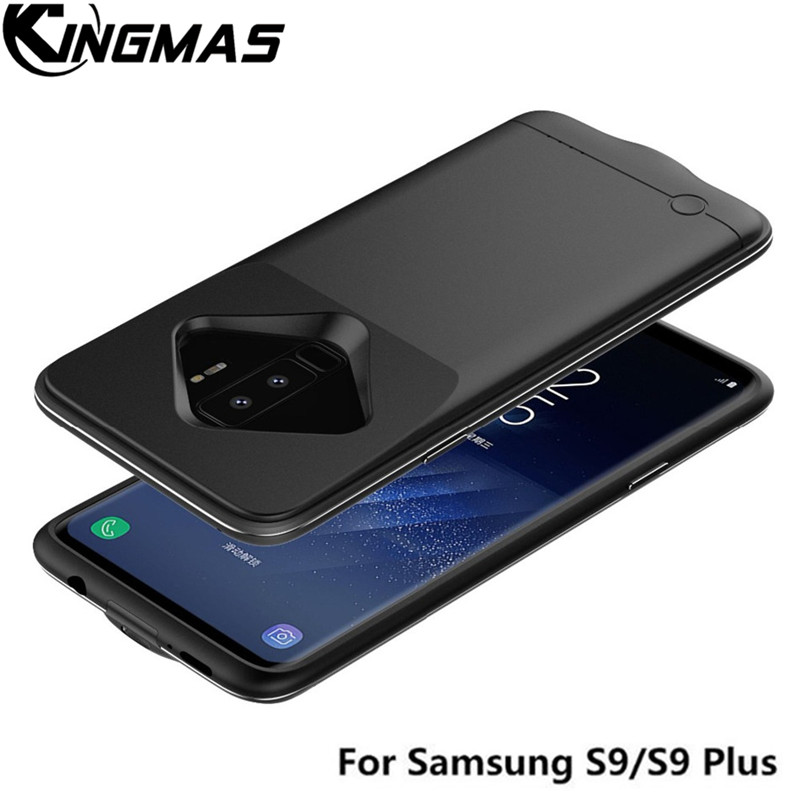 KINGMAS Newest 4200mAh Slim TPU Rechargeable Charging battery case for Samsung S9 S9+ 5200mAh Power case for Galaxy S9 plus