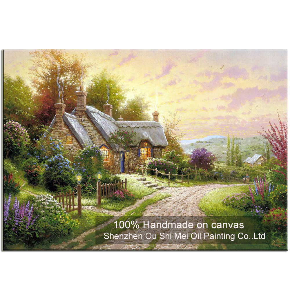 New High Quality Hand Painted Thomas Landscape Oil Painting on ...