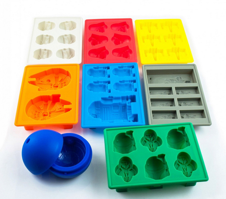 8pc Star Wars Ice Tray Silicone Mold Ice Cube Ice Cream Makers Chocolate Fondant Mould