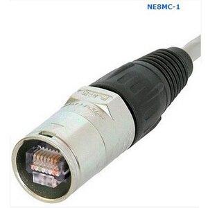 Image 1 - 10 개/몫 고품질 3 핀 NE8MC RJ45 케이블 끝 연결 관 무거운 의무 주거