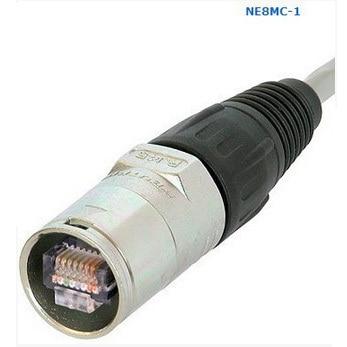 10Pcs/Lot High quality 3 Pin NE8MC RJ45 Cable End connector heavy Duty Housing