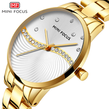 MINIFOCUS moda luksusowe kobiety zegarki wodoodporny zegarek dla kobiet dla kobiety zegar na co dzień zegarek dla pań Relogio Feminino Montre Femme tanie tanio Składane zapięcie z bezpieczeństwem 19 9cm QUARTZ Stop Okrągły 3Bar Papier Hardlex 8 9mm Odporne na wodę Moda casual