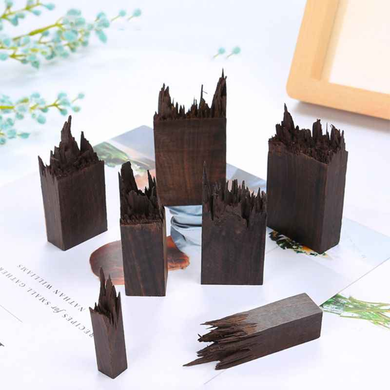 エポキシ樹脂クラフト材料黒檀作る DIY スタンプ宝石ネックレスのペンダントを作る風景装飾天然木