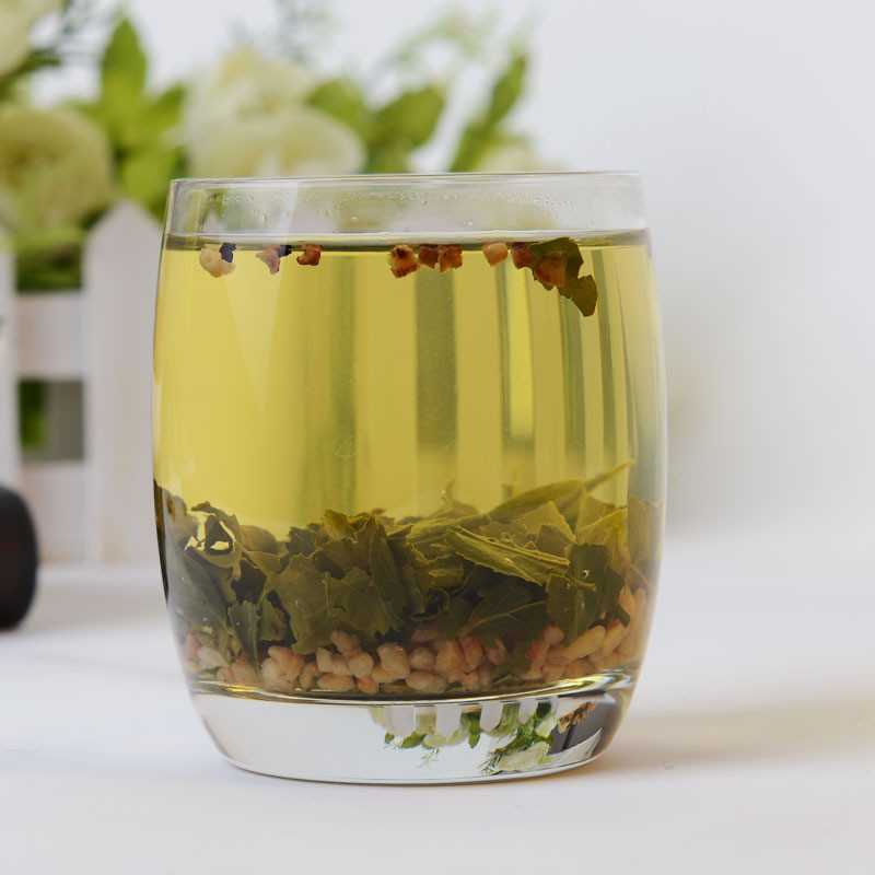 Free Shipping 100g Premium Brown Rice Green Tea Genmaicha Sencha with the rice