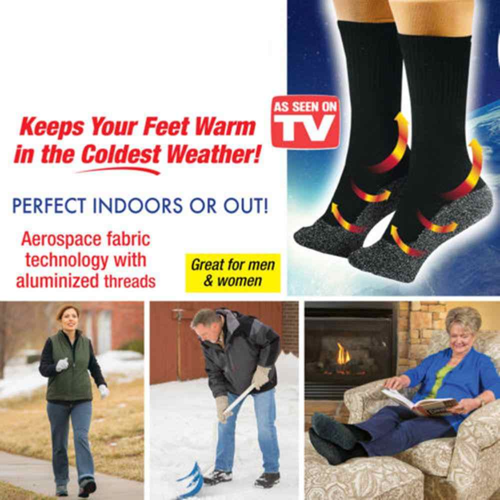 d1e8c038a9776 2 pairs 35 Below Socks Keep Your Feet Warm and Dry As Seen On TV Aluminized