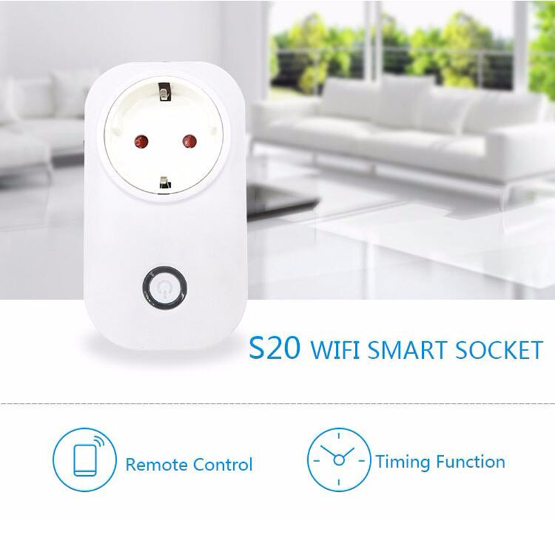 S20 WIFI Smart Socket Remote Control Smart Timing Switch EU Plug Smart Home Power Socket For Smart Life HWC