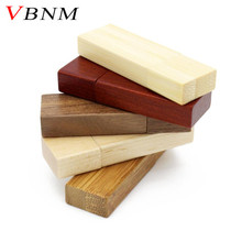 VBNM LOGO customized Wooden usb flash drive wood batten pendrive 4gb 8gb 16gb 32GB U disk memory Stick usb 2.0 wedding gifts