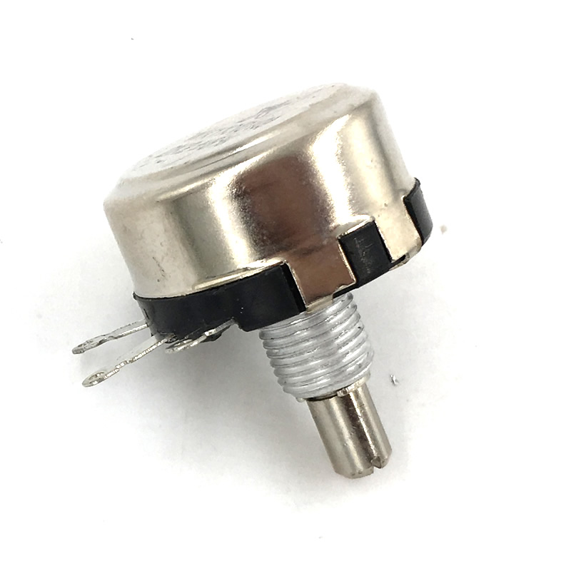 50pcs WX110(010) 6mm Round Metal Shaft Single Turn Wire resistor Wound Potentiometer 1k 2.2k 3.3k 4.7K  5.6k 6.8k 10k 22k ohm