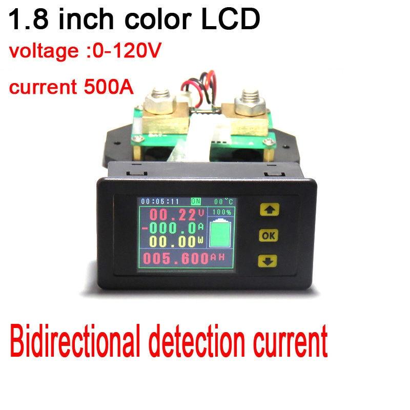 120 V 500a Dc Digital Voltmetro Amperometro Temperatura Coulomb Di Potere Di Capacità Bidirezionale Batteria Di Tensione Corrente Meter + Shunt