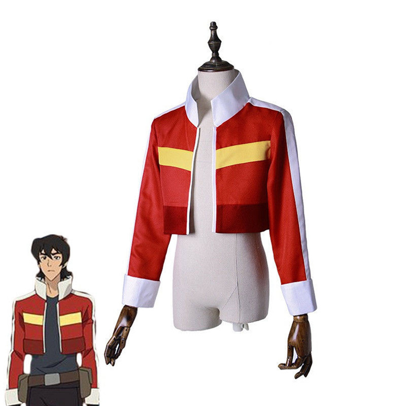 Takerlama Voltron:Legendary Defender Keith Red Jacket Top Coat Cosplay Costumes Outfit Unisex