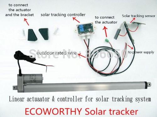 Sunlight Solar Tracker System 16'' Single Axis Kit for Solar