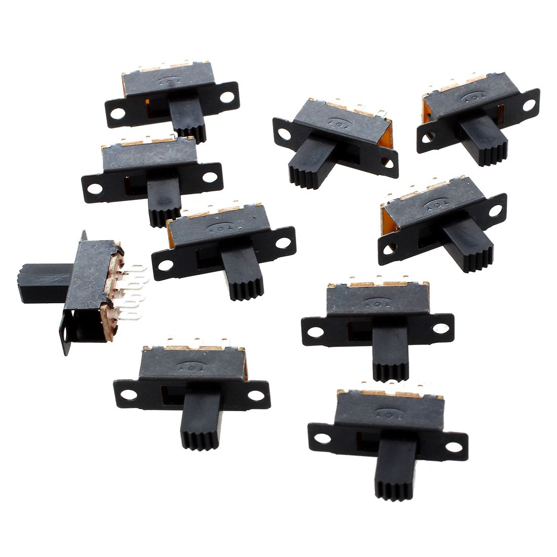 10 Pcs 6 Pins 2 Positions DPDT On/On Mini Slide Switch