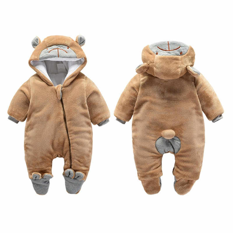 09dca055ff Detail Feedback Questions about BibiCola Newborn Rompers Winter Thick Warm  Baby Girls Rompers Jumpsuit Clothing Infant Bebe Cartoon Warm Outfits  Snowsuit on ...