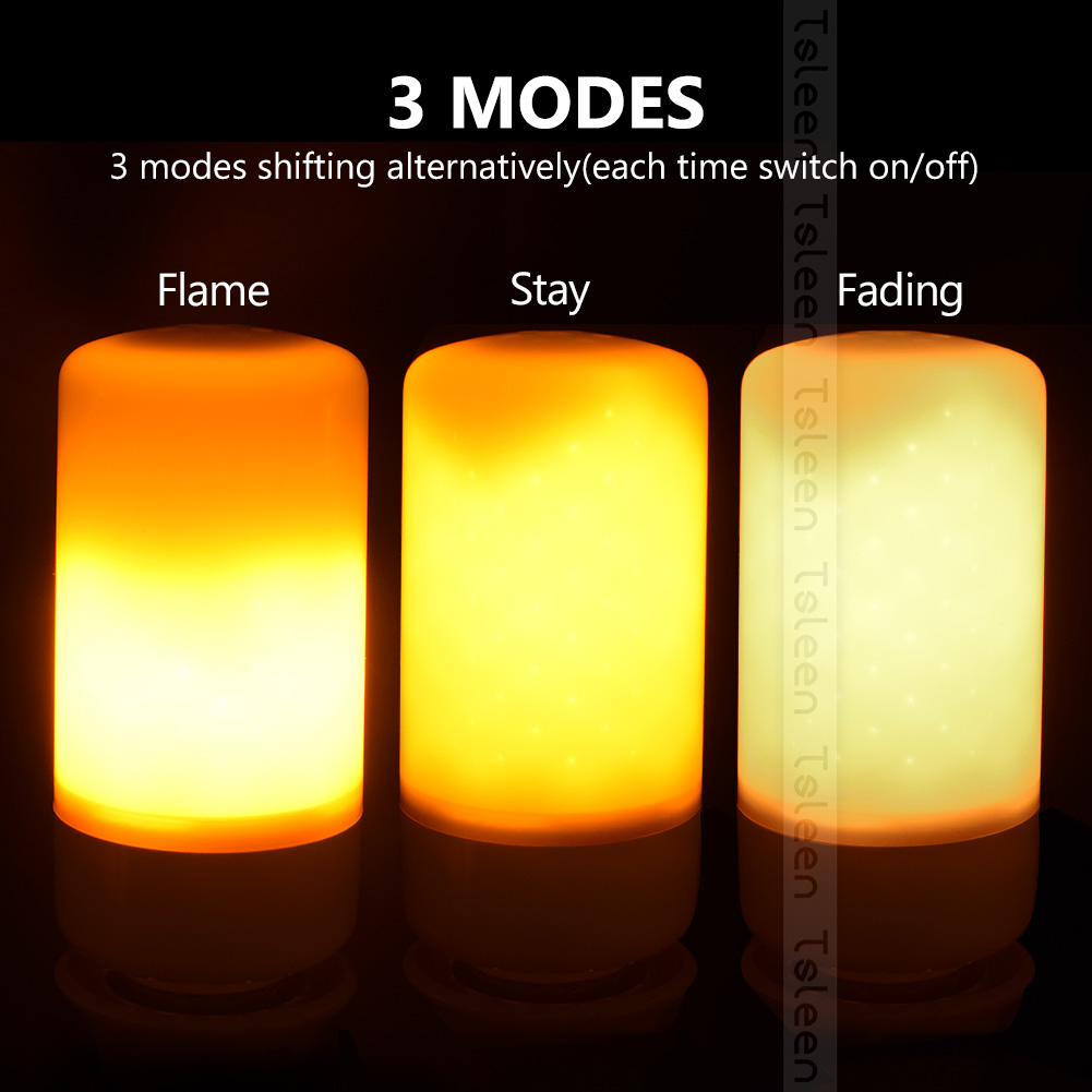 Retro Fire Flame lamp E14 vintage bulb e27 smd2835 110v 220v 85-265V holiday lights 99LED Christmas lamp lampada for home decor hot halloween home decoration 5w 2835 smd 99 led lamp bulb e27 flame flickering breathing general modes led lights bulb 110 240v