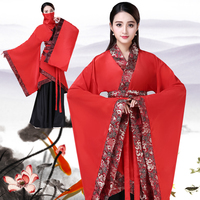 Ancient Chinese Fairy Cosplay Costumes Red Hanfu Dress Traditional Women Tang Dynasty Princess Classical Dancer Show Wear