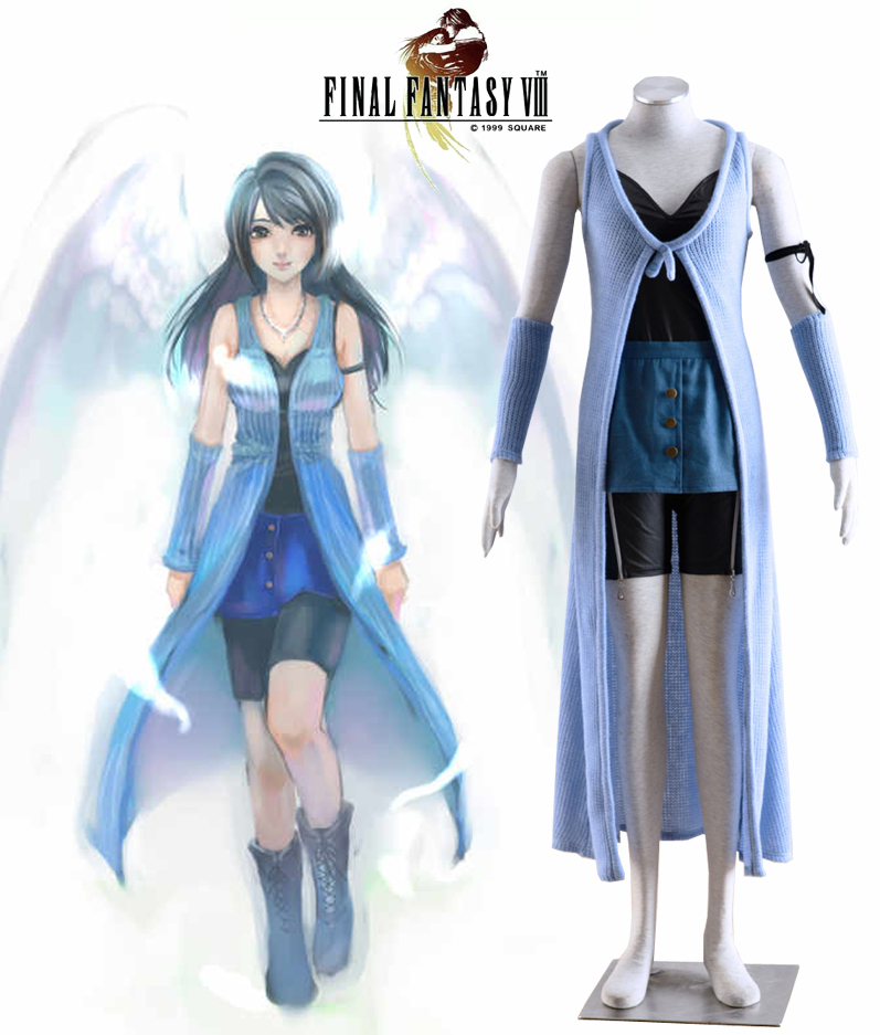 Final Fantasy Series Rinoa Heartilly Daily Dress Cosplay Costume Adult Anime Clothes Full set in Custom