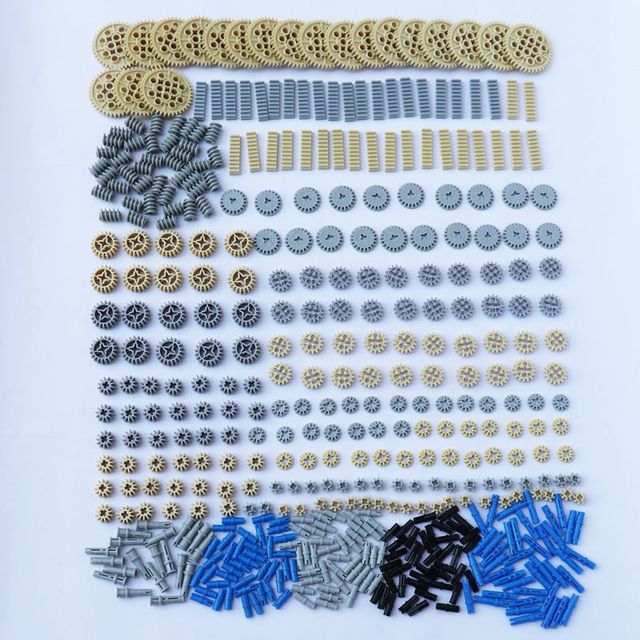500 Pieces Building Blocks Bulk Technic Parts Technic Gears Rack Technic Connectors DIY Technic Building Blocks Brick Accessory
