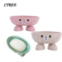 CTREE Creative Cartoon Cute Soap Box Dish Holder Bathroom Accessories Travel Soap Box Plastic Portable Draining Soap Boxs C47 женская юбка brand new c47 saia sv016397 c47