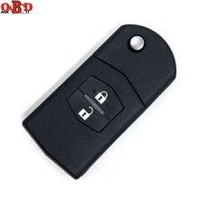 HKOBDII 新マツダ 3 6 2 ボタンフリップリモート車のキー 315/433 と 80bit 4D63 チップ m3 M6 、ホット! 高品質