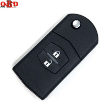 цена на HKOBDII New For Mazda 3 6 2 Buttons Flip Remote Car Key 315/433MHZ With 4D63 Chip M3 M6,Hot!High quality
