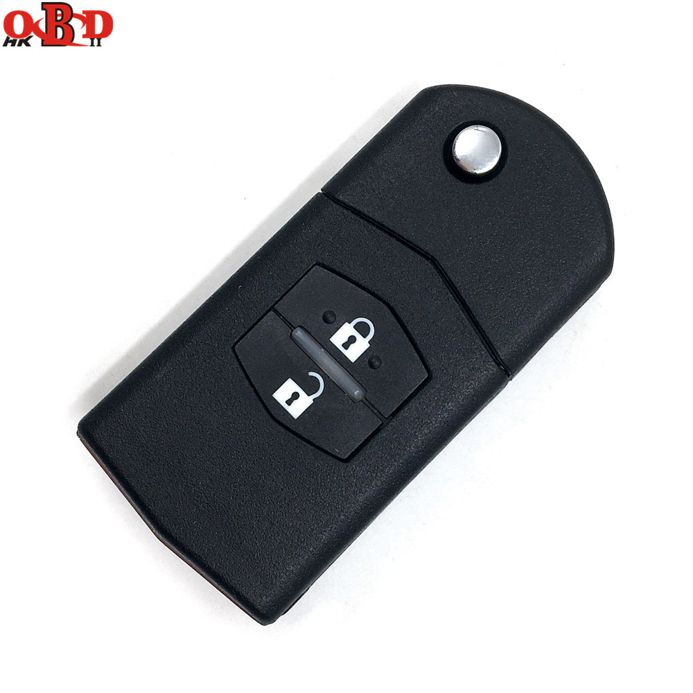 HKOBDII New For Mazda 3 6 2 Buttons Flip Remote Car Key 315/433MHZ With 80bit 4D63 Chip M3 M6,Hot!High quality image