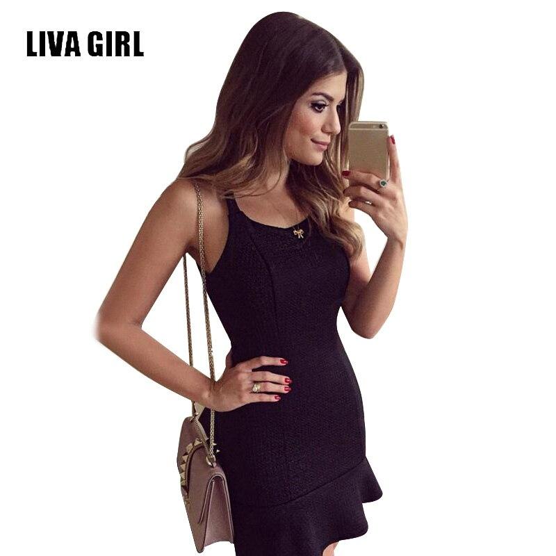 Liva Girl Ladies Summer Dresses Backless Tank Strap -7698