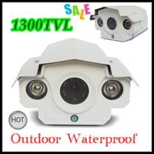 Newest CCTV Camera 1/3 SONY CCD 1300TVL Outdoor Waterproof HD Surveillance camera 2pcs IR Led Night Vision