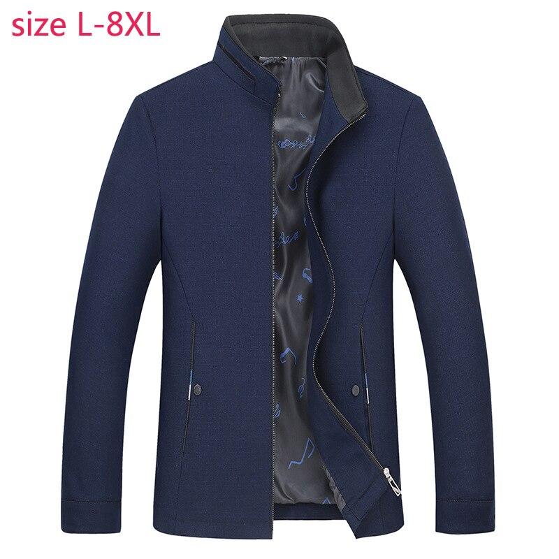2019 Nieuwe Lente Herfst Super Grote Staande Kraag Jas Casual Losse Fashion Hoge Kwaliteit Plus Size LXL2XL3XL4XL5XL6XL7XL8XL-in Jassen van Mannenkleding op  Groep 2