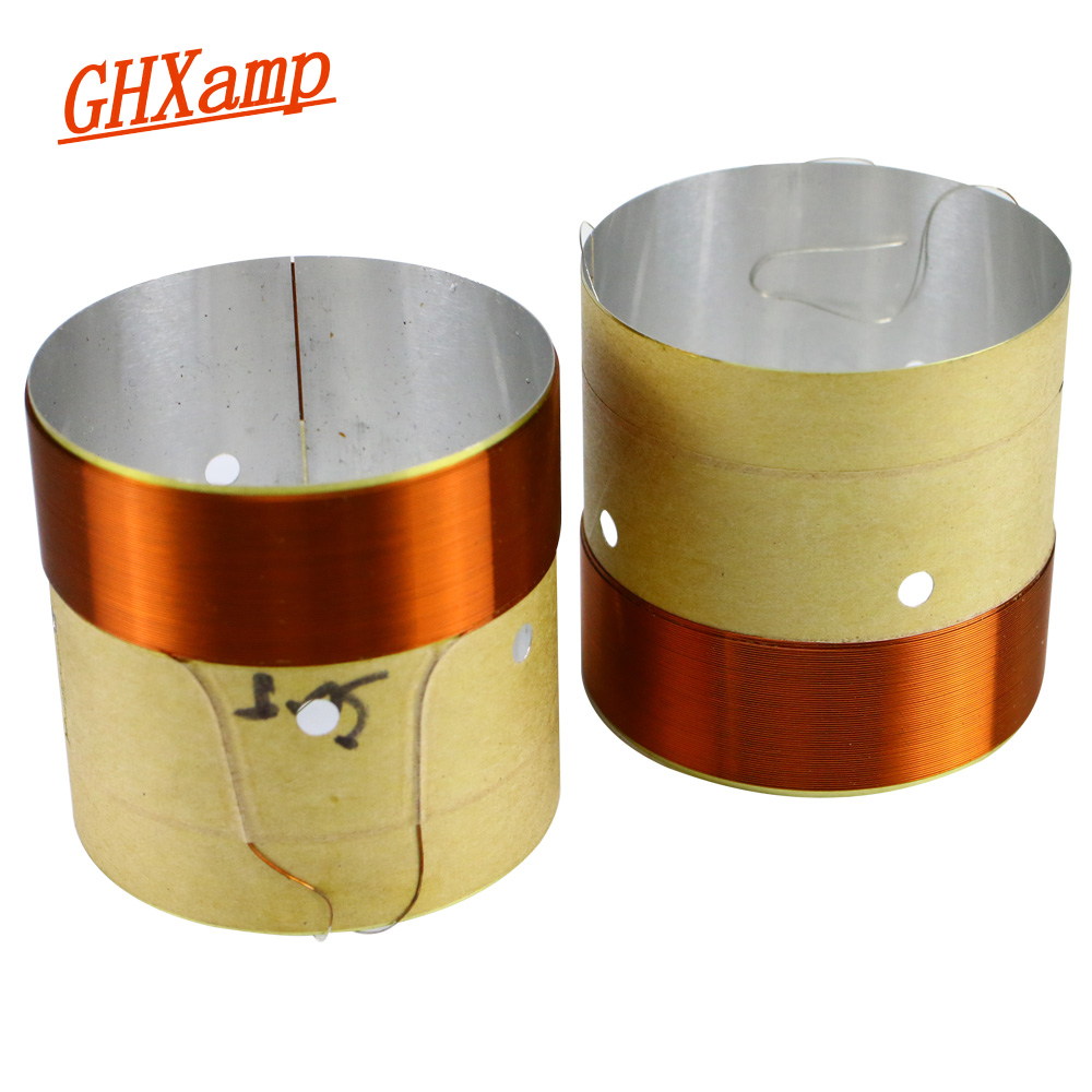 GHXAMP 50.5MM BASS Voice Coil White Aluminum Sound Hole 8OHM Loudspeaker Repairs DIY Height 45mm 2PCS