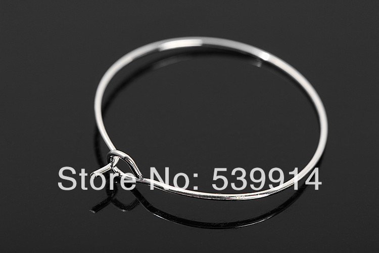 28*25MM 500pcs/lot Silver Plated Earring Hoops /Big Round Loop Circle Ear Hook jewelry Findings Wire Component